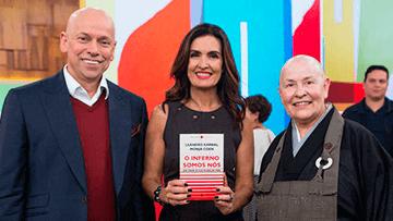 Leandro Karnal, Fátima Bernardes e Monja coen